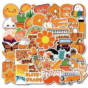 UK Seller VSCO Stickers 50 Orange Aesthetic stickers for hydro flask laptop NEW