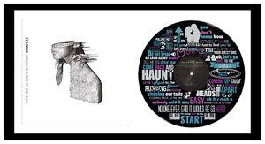 COLDPLAY - ART - VINYL RECORD + LYRIC ART & ALBUM COVER - FRAMED - MEMORABILIA