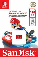 Speicherkarte SanDisk 128GB microSDXC UHS-I für Nintendo Switch Lizenziert