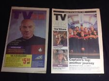 Two STAR TREK Voyager Generations 1995 & 1999 KATE MULGREW Newspaper Supplements