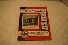 Road Builder's News, American Road Builder's Assn, January 1939