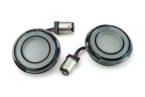 Kuryakyn Tracer Dual Color LED Front Turn Signal Conversion Kit 1157 Smoke Bulle