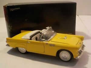 N 1955 Ford Thunderbird Yellow Die Cast Model 1/24 Scale