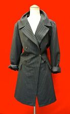 AGNES B FRANCE black pin striped double suit COAT JACKET women 2 dress sweater
