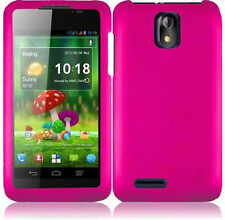 For Cricket ZTE Engage LT N8000 Rubberized HARD Protector Phone Case Hot  Pink