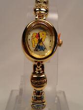 Disney Winnie the pooh Honey Bee links gold plated watch, Quartz. new/warranty