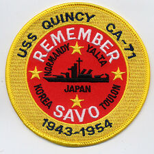USS Quincy CA 71 - Remember Savo 1943 -1954 BC Patch Cat. No. B987