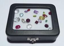 GLASS TOP GEM BOX 3-1/4x2-1/2in. Storage/Display gold nuggets,gemstones,minerals