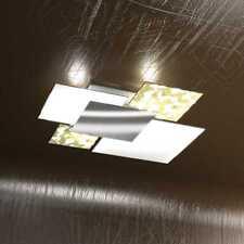 Plafoniera moderna vetro foglia oro a 4 luci tpl1088-pl70fo