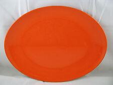 "Orange Oval Serving Platter 13"" Waechtersbach German Stoneware New"