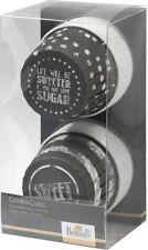 24 CrinklCup Muffinförmchen Cupcake Papierförmchen Muffin Schwarz Punkte Muster