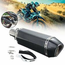 38-51mm inox universel moto en fibre de carbone pot d'échappement silencieux