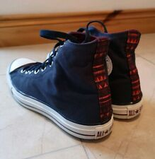 CONVERSE navy high top lace up trainers Mens UK 10 Quirky Unusual Funky Arty