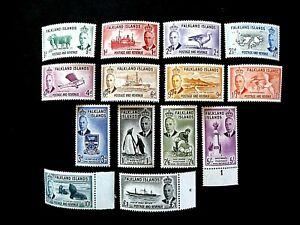 Falkland Islands.1952. Set of 14. SG 172/185. Superb MNH.