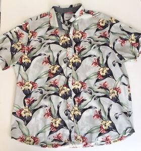 Tommy Bahama Short Sleeve Floral Shirt Mens Size XXL