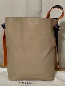 Celine Twisted Cabas Multicolored Soft Calfskin Leather Tote Shoulder Bag