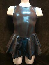 NEW MotionWear Ice Skating Skate Dress Teal Foil Girls 6/7 Intermediate