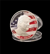 New American 45th President Donald Trump Silver Coin US White House Coin 1pc