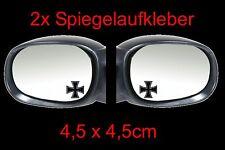 2x Eisernes Kreuz Spiegel Auto Aufkleber Sticker 4,5cm x 4,5cm Fun Tankdeckel