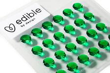 COMMESTIBILE Smeraldo Diamanti 10 mm x 24 (Libero Diamond BARRIERA COLLA Mentre Magazzino Dura)