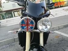 Triumph adesivo trasparente copri fanale inglese Union Jack speed street triple
