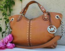 Michael Kors Handbag walnut ASTOR UPTOWN studded Shoulder Purse Leather  handbag