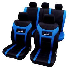 Housse de siège universelle couvre siège voiture en polyester Noir Bleu FAS7260