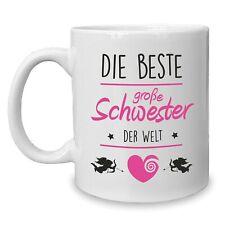 Kaffeebecher - Tasse - Die Beste große Schwester der Welt - Familie Geschwister