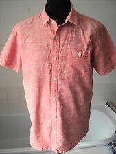 "Nanny State Pink Chambray Cotton Short Sleeved Shirt ~ size 40"""