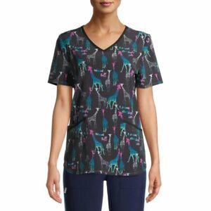 Scrubstar Women's Medical Nurse V-neck Seasonal Print Scrub Top
