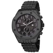 New Men's August Steiner AS8140BK Swiss Dual Time Multifunction Black Watch