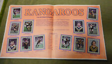 #T90. 1983  AUSTRALIAN KANGAROOS (1982)  RUGBY LEAGUE STICKERS ON ALBUM PAGES