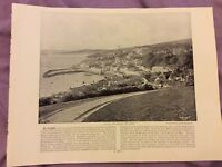 Antique Book Print - St Mawes OR Holyhead - UK - c. 1895