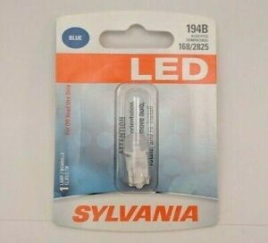 Sylvania LED Blue 194B - 1 Instrument Panel Light Bulb 168 2825 - SHIPS FREE