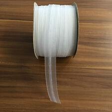 100m Rolle Kräuselband 25mm transparent Gardinenband