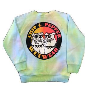 VINTAGE 1988 DEADSTOCK CHIP & PEPPER WETWEAR TIE DYE SWEATSHIRT L