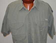 Columbia Shirt XL PFG Gray Khaki Classic Fishing