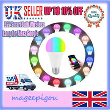 B22 Smart Bulb Wireless WiFi App Remote Control Lamp for Alexa Google Home -ME39