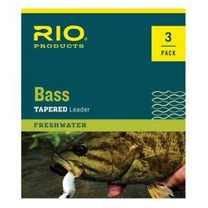 RIO Bass Leader 3 Pack - NEW FREE SHIPPING