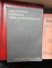 Hans Prinzhorn: Conversation sur psychanalyse 1926 Broschur