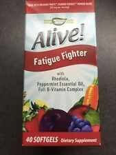 Nature's Way Alive! 2 pk of 40 Fatigue Fighter Softgels - Exp 2/21