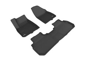 3D MAXpider Floor Liners Kagu Black For 17-21 Cadillac XT5
