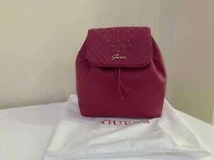 BNWT Guess Fushia Pink Backpack,100% Genuine includes A Dust Bag.....
