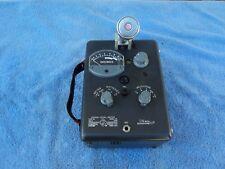 GENERAL RADIO 1551-C DECIBEL LEVEL METER WITH SHURE 98108 HARP MICROPHONE ON IT.