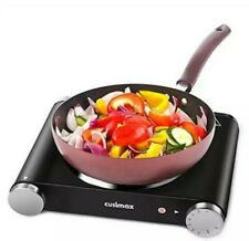Cusimax Ceramic Portable Electric Hot Plate Cooking Single Burner 1200W Camping