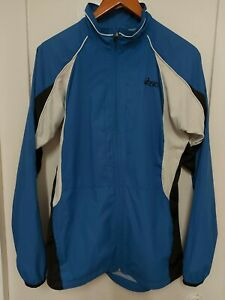 Asics Mens Running Jacket Blue (Duo Tech) Size M