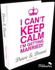 Wedding Planner/ I Can't Keep Calm /Diary/Book/Keepsake momento/Personalised