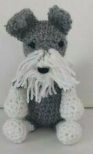 Tyrone  the Schnauzer  mini amigurumi handmade soft  crochet toy