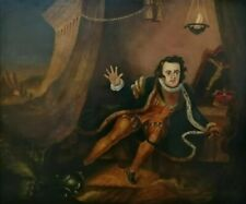 18th Century old English master oil painting Shakespeare ex Sothebys lot