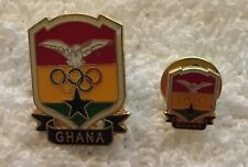 Ghana Large and Small Undated Olympic NOC Athletes Pins in PyeongChang Red
